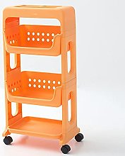 3 Tier bathroom storage trolleys floor