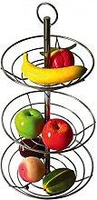 3 Tier Chrome Fruit Vegetable Basket Bowl Steel