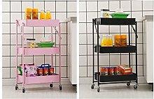 3 Tier Detachable Utility Kitchen Folding Trolley