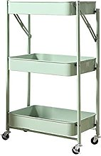 3-Tier Free Installation Rolling Cart, Instant Use