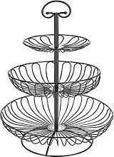 3 Tier Fruit Basket Bowl Removable Fruit Stand for