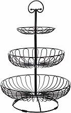 3-Tier Fruit Basket, Fruit Bowl Stand, Round