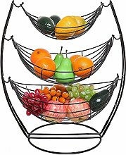 3 Tier Fruit Basket - Fruit Tree Bowl, Chrome