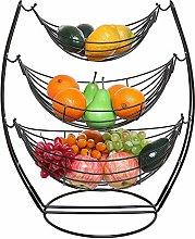 3 Tier Fruit Basket - Fruit Tree Bowl, Chrome