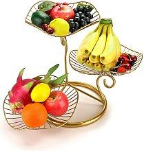 3-Tier Fruit Basket Stand Decorative Iron Fruit