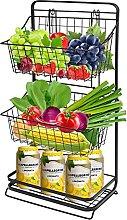 3-Tier Fruit Basket Stand for Kitchen, DSVENROLY