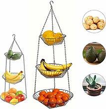 3 Tier Fruit Basket, Vegetable Kitchen Storage