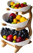 3 Tier Fruit Bowl(Bamboo and Wood Shelf * 1