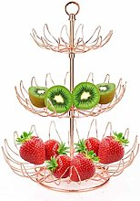 3 Tier Fruit Bowl Metal Fruit Basket Detachable