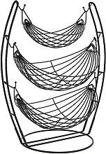 3-Tier Hammock Fruit Basket Stand Iron Hanging
