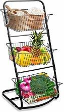 3 Tier Hanging Countertop Fruit Storage Basket,