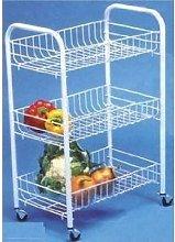 3 Tier Kitchen Fruit Vegetable Storage Trolley