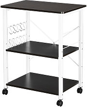 3-Tier Kitchen Trolley Cart, Utility Microwave