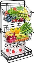 3-Tier Metal Fruit Basket Stand for Kitchen,