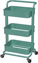 3-Tier Rolling Cart Metal, Storage Cart Metal,