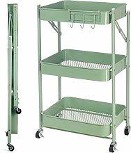 3 Tier Rolling Cart, Multifunction Storage Cart