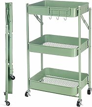 3 Tier Rolling Utility Storage Cart With Handle,