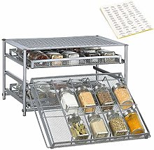 3-Tier Spice Rack Organizer 30 Bottle Pull Out