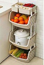 3-Tier Storage Stacking Basket Kitchen Shelves