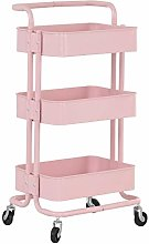 3 Tier Storage Trolley Cart, Rolling Utility