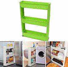 3-Tier Storage Trolleys, Storage Shelf, Moving