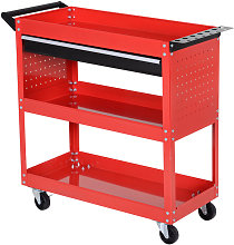 3-tier Tool Trolley Cart Roller Cabinet Storage