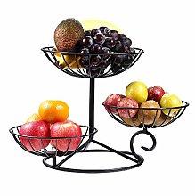 3 Tier Wrought Iron Fruit Basket Tiered Fruit Bowl