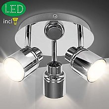 3 Way Round Plate Led Ceiling Spotlight for