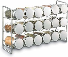 3 x 18-Jar Compact Spice Rack, Silver