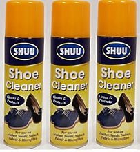 3 x 200ml Shoe Trainer Boot Cleaner Spray For