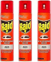 3 x 300ml Raid Ant & Cockroach Intant Killer Spray