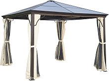 3 x 3m Garden Gazebo Outdoor PC Board Roof Canopy