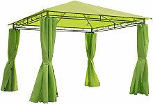 3 x 3m Garden Metal Gazebo Marquee Canopy w/