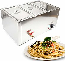 3 x 7L Buffet Server Warming Tray Stainless Steel