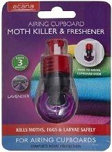 3 X Acana Airing Cupboard Moth Killer & Freshener