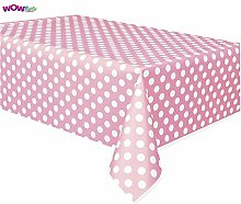 3 x Baby Pink Polka Dot Tablecloth,