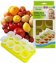 3 X Baby Weaning Food Freezing Cubes Tray Pots