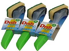 3 x Dishmatic Washing Up Brushes with Heavy Duty