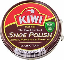 3 x Express Cream Shoe Polish Dark Tan OSC Kiwi 50