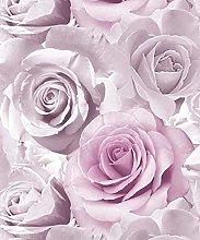 3 x Glitter Amethyst Wallpaper Flower Floral Large
