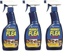 3 x Household Flea Killing Spray For Cat Dog