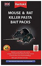 3 X Mouse and Rat Killer Pasta Bait Packs, Black,