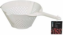 3 x Plastic Colander with Long Handle