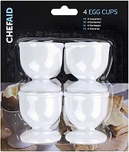 3 X Plastic Egg Cup Set, White