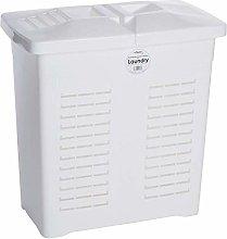 3 X Rectangular White Plastic Laundry Linen Basket