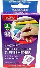 3 X Sachet Moth Killer & Freshener with Lavender