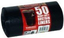 3 X SET OF 50 HEAVY DUTY DUSTBIN LINERS BIN BAGS.