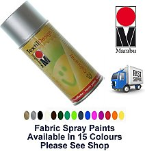 3 x Silver Fabric Spray Paint Marabu Textile