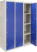 3 x Storage Filing Locker Cabinet Metal 4 Door