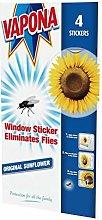 3 X Sunflower Fly Killer Window Sticker 85274